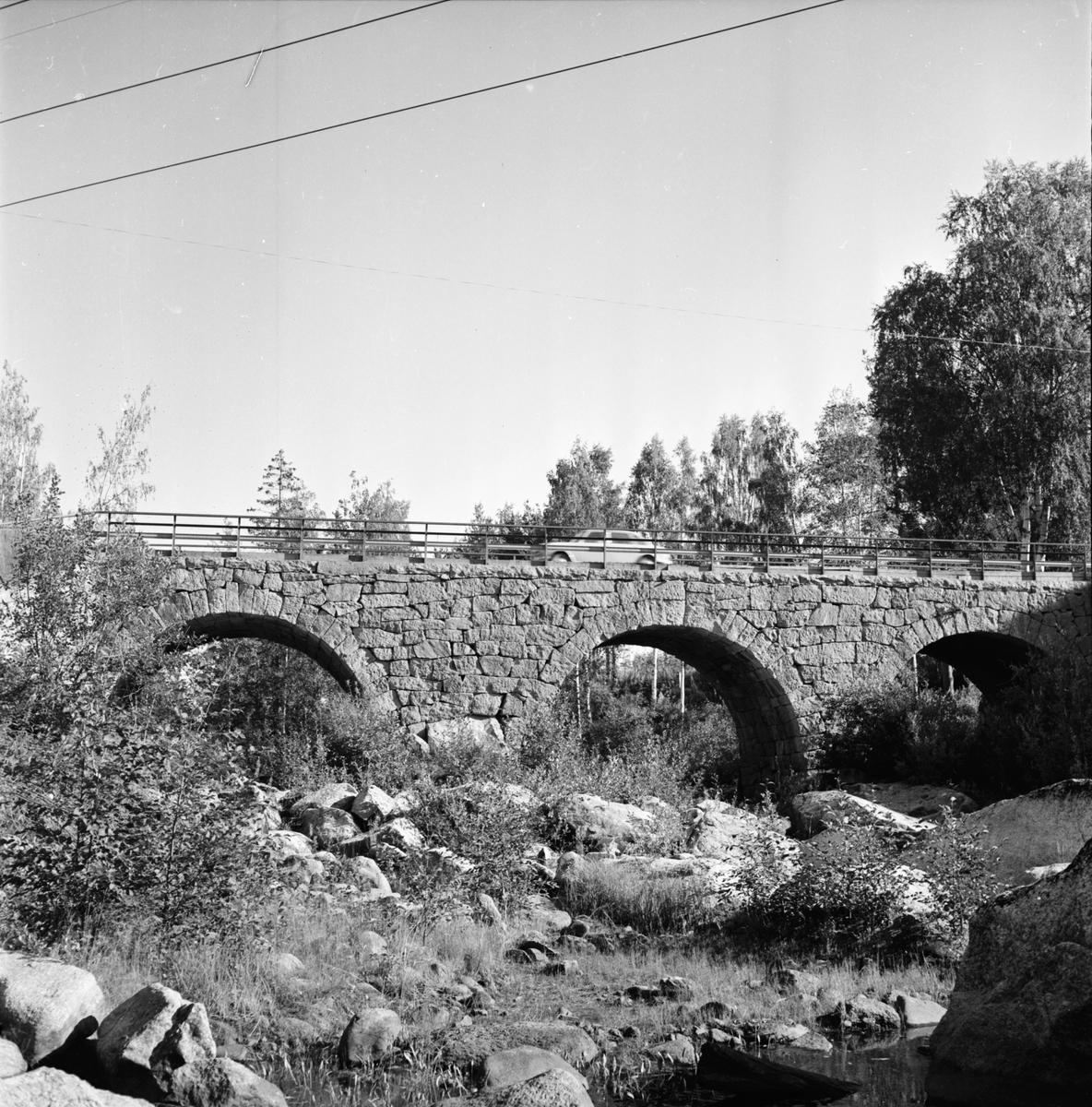 Lottefors. Edvin Bergkvist bron vid Forsbro. 1970