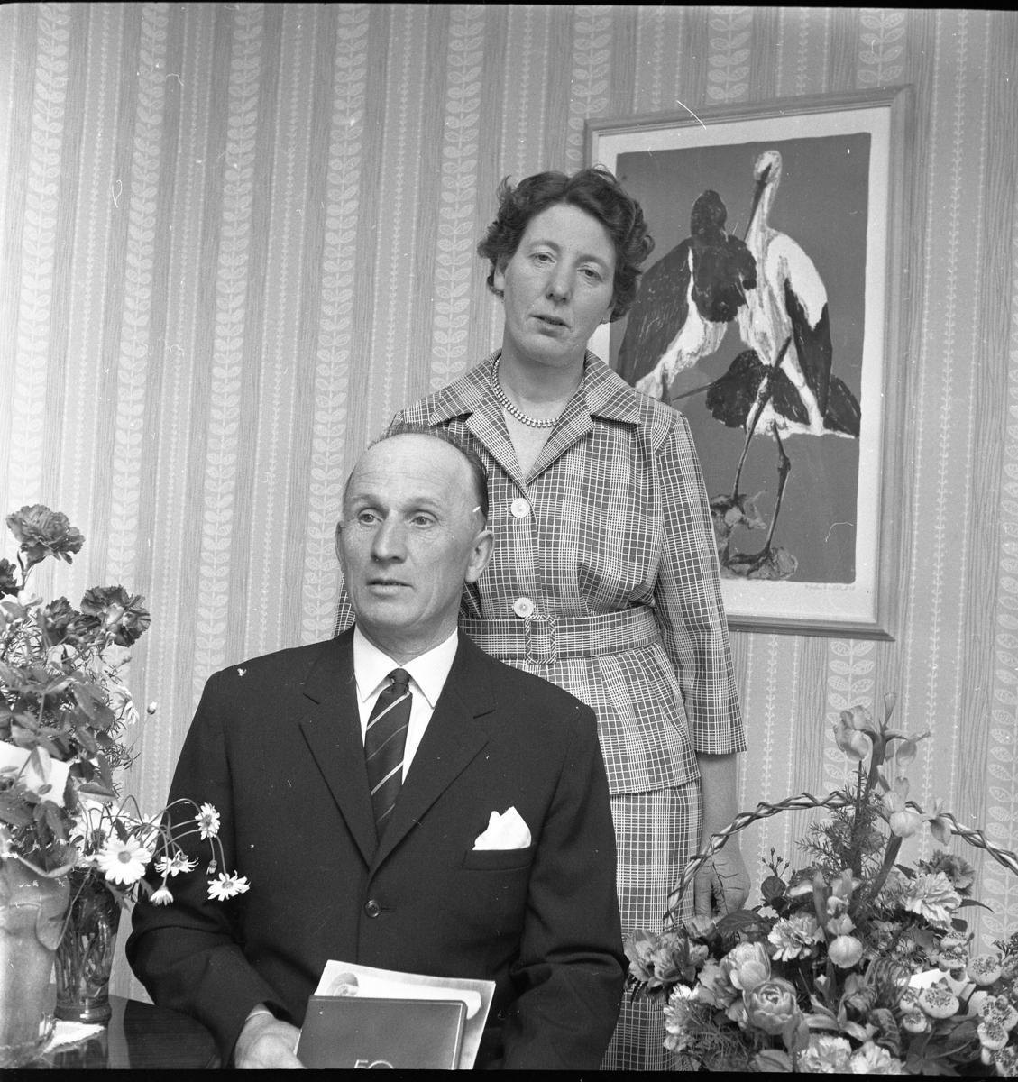 fira ett år tillsammans Yngve Johansson i Reaby firar 50 år, tillsammans med hustrun Anna  fira ett år tillsammans