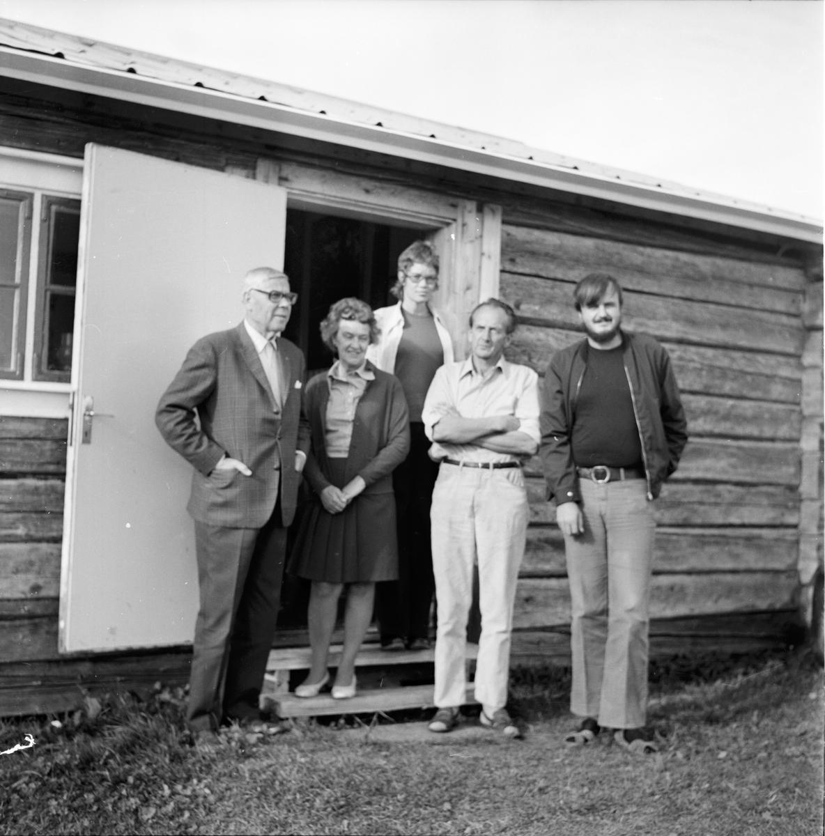 Besök i Johanssons stuga i Krokom, Strömsund September 1972