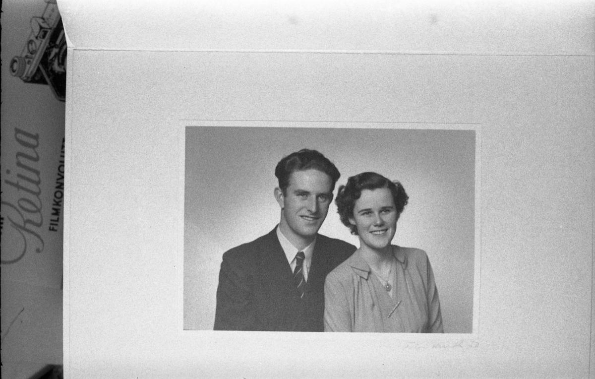 Avfotografert portrett av Inger (f.Frydenberg) og Ole Jacob Torsrud.