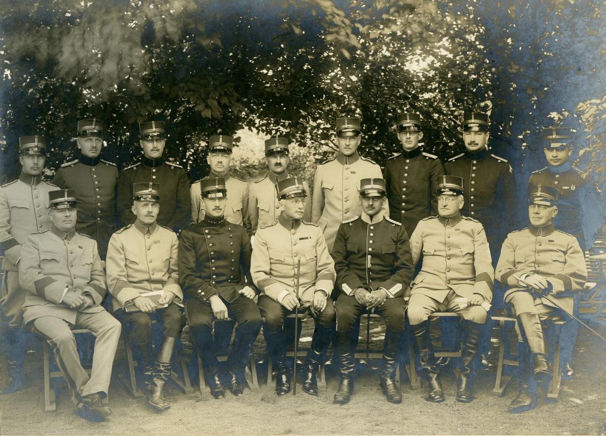 Taktiska övningar för militärläkare i III:e arméfördelningen, 1917. För namn, se bild nr. 2.