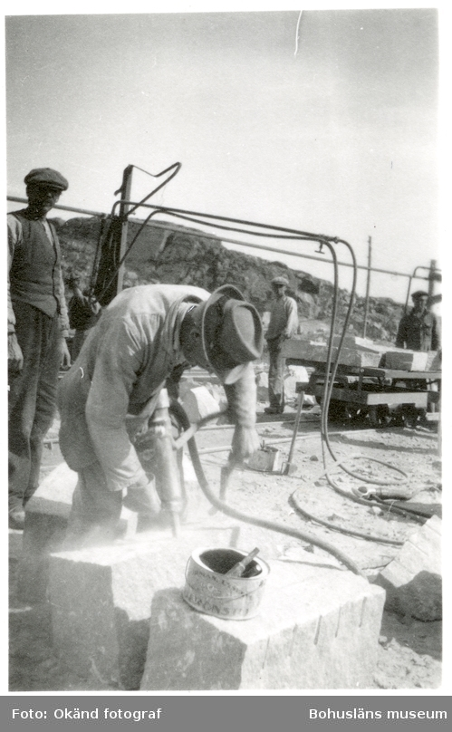 Arbete i stenhuggeri