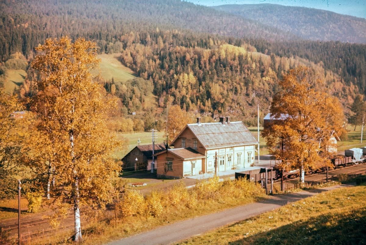 Gudå stasjon på Meråkerbanen. Stasjonsbygningen er noe ombygget, bl.a. er det opprinnelige takoppbygget over plattformen fjernet.
