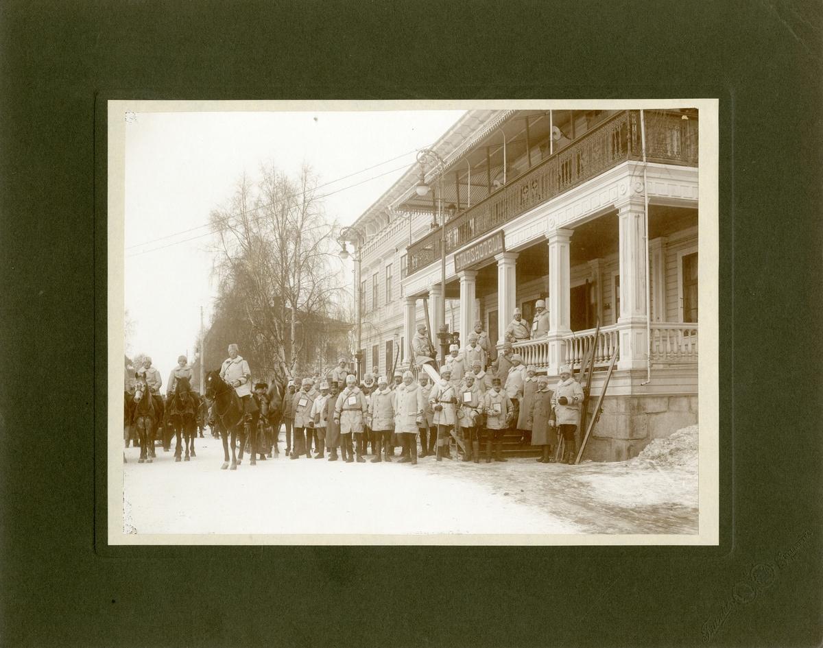 Officerare från Krigshögskolan i Skellefteå.