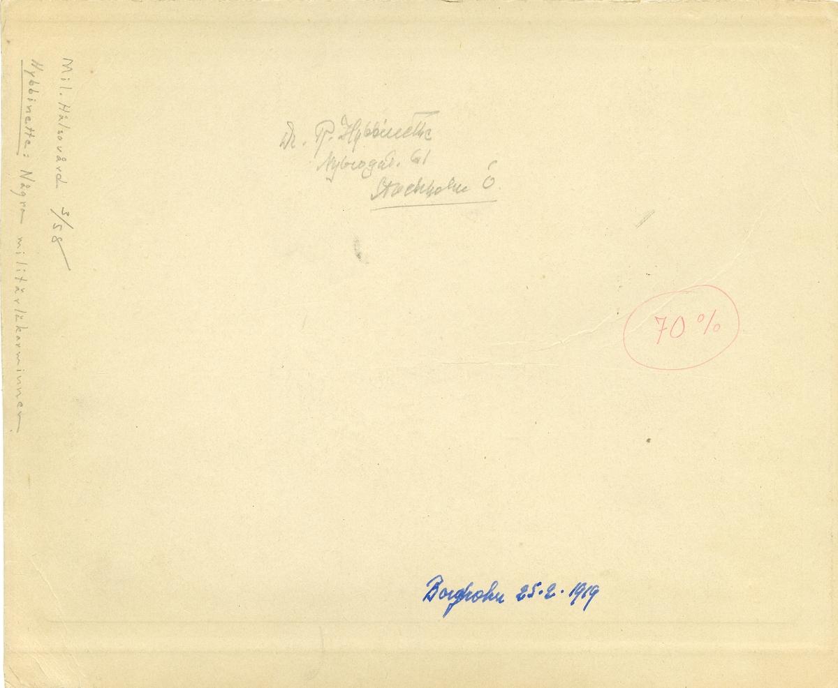 Inskrivningsförrättning i en biograflokal. Borgholm 25 februari 1919. För namn, se bild nr. 2 och 3.