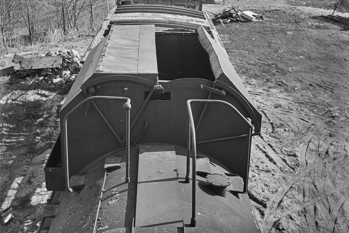 Tenderen til damplokomotiv type 49a nr. 463 Dovregubben på Marienborg ved Trondheim.