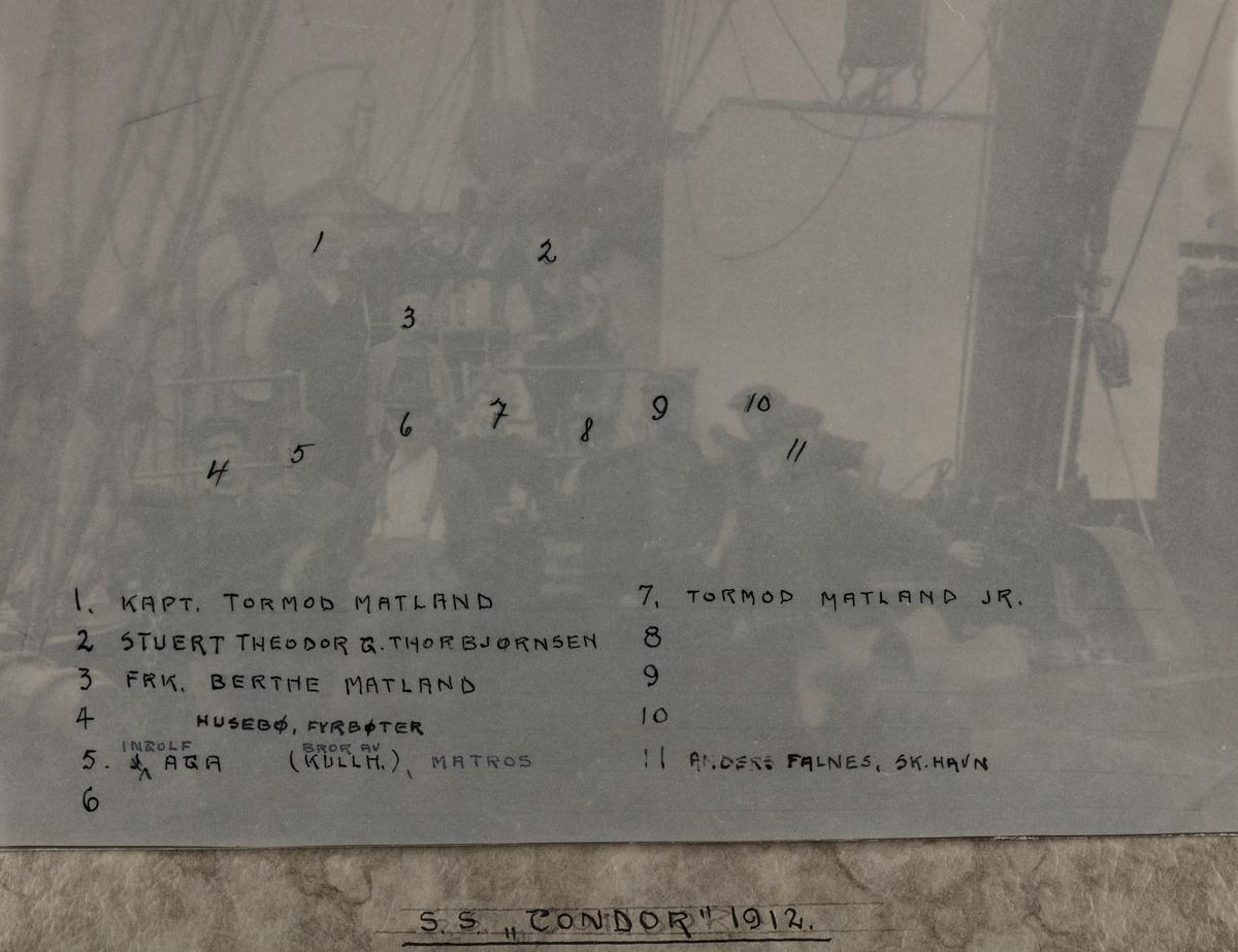 "Mannskapsbilde - S/S ""Condor"" 1912"