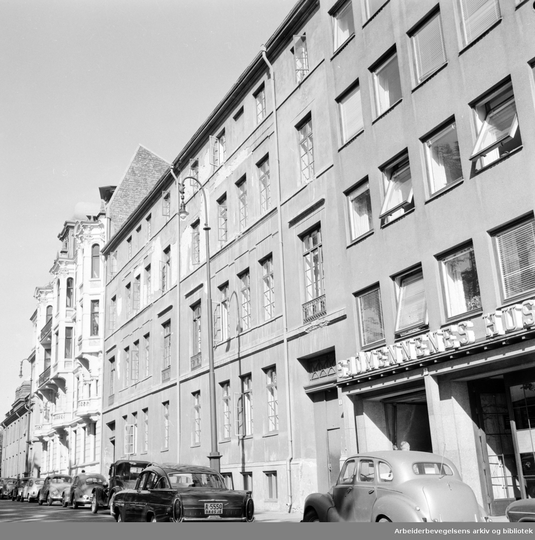 Sjømennenes Hus, eksteriører. September 1959