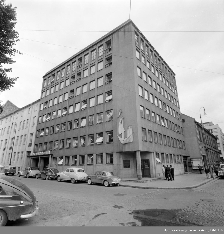 Sjømennenes Hus, eksteriører. August 1960