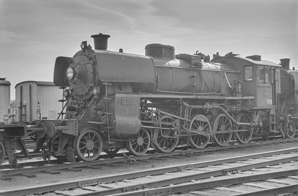 Utrangert damplokomotiv type 26c nr. 432 på Marienborg ved Trondheim.