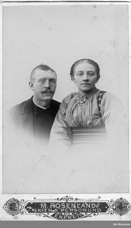 Portrett av Hans og Ingerid Sisjord