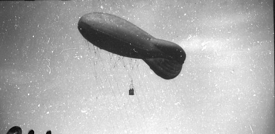 Fältballong m/1932, över A 6 övningsfält.