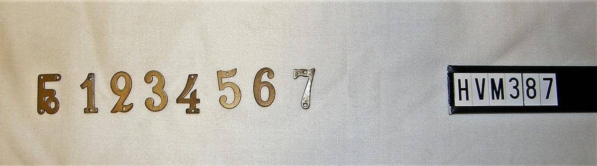 Siffror, symbol för förband, försvarsområden