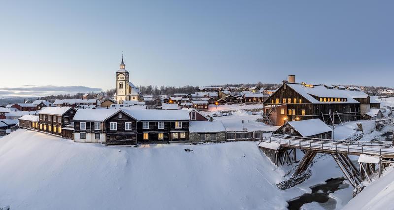 CROP_Malmplassen, Røroskirka, Smelthytta panorama (Foto/Photo)