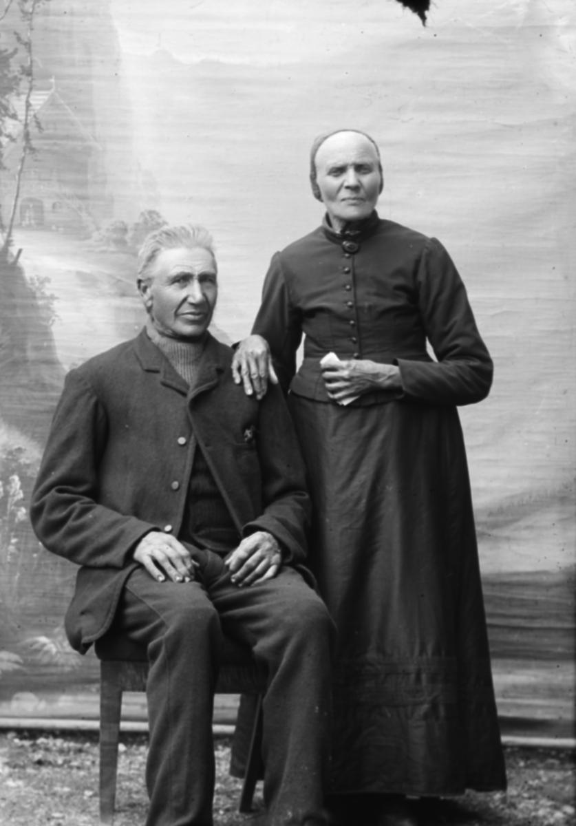 Erland H. Bergum f 1822, Nord-Fron og hans kone.