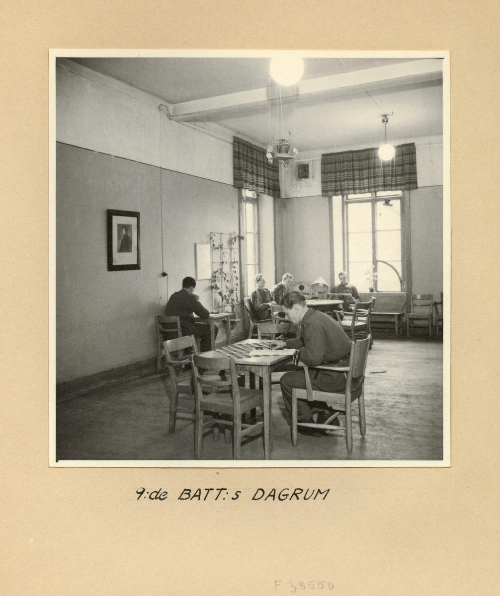 9:e batteriets dagrum, Svea artilleriregemente A 1, våren 1947.