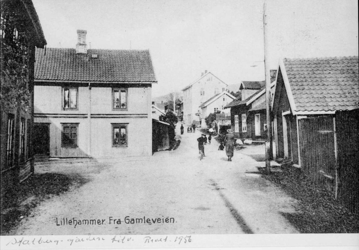 Repro: Gatebilde, Gamlevegen i Lilllehammer.