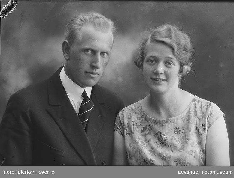 Portrett av John Skjetne med sin søster navn ukjent