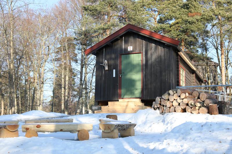 DNT-hytta Hovinkoia på Norsk Folkmuseum 7. februar 2018.