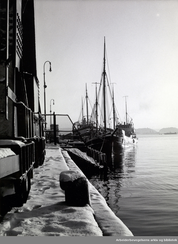 Oslo havn på 1960-tallet.