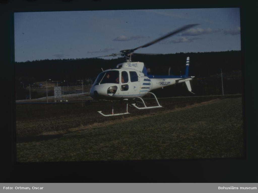 Flygfotografering Helekoptern innan den lyfter