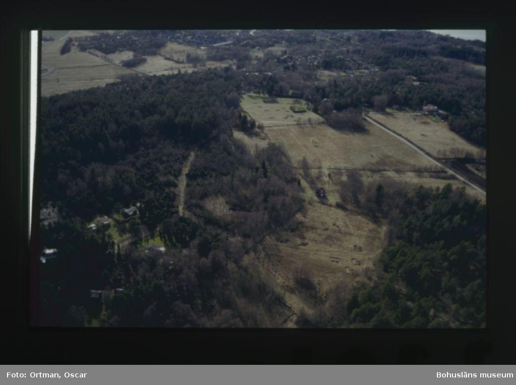 Hallernplatån Norum 164 i förgrunden. Schakten från FU norra gården öppna. Mellersta och södra gården längs med stigen som löper genom skogspartiet. FU schakten från Norum 271 synns längst bak