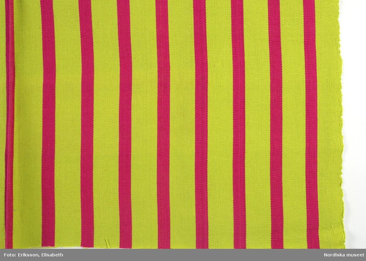 Mönster Juana, limegröna ränder 3,5 cm breda och rosa ränder 1,8 cm breda.