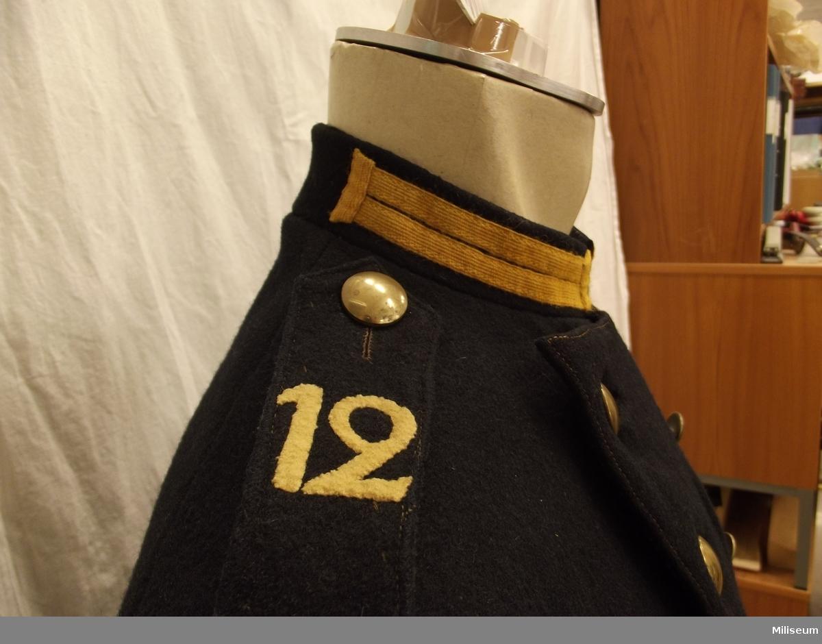 Vapenrock m/1872 för menig vid Jönköpings regemente.