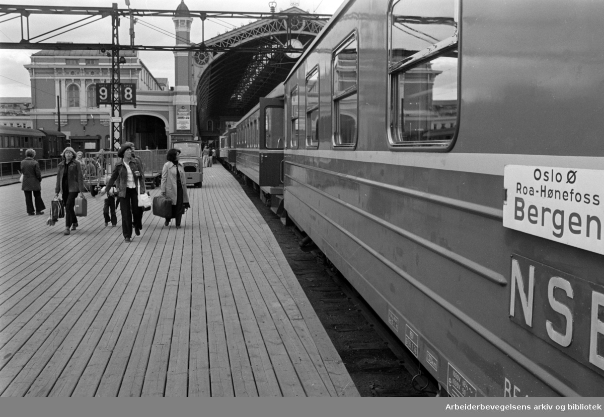 Østbanestasjonen. Mai 1976