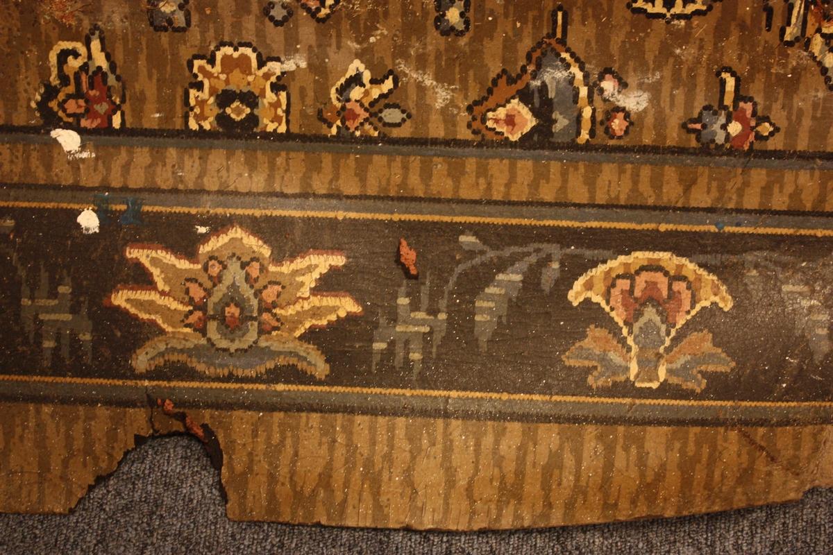 Linoleumsteppe nytta i atelieret til Olai Fauske