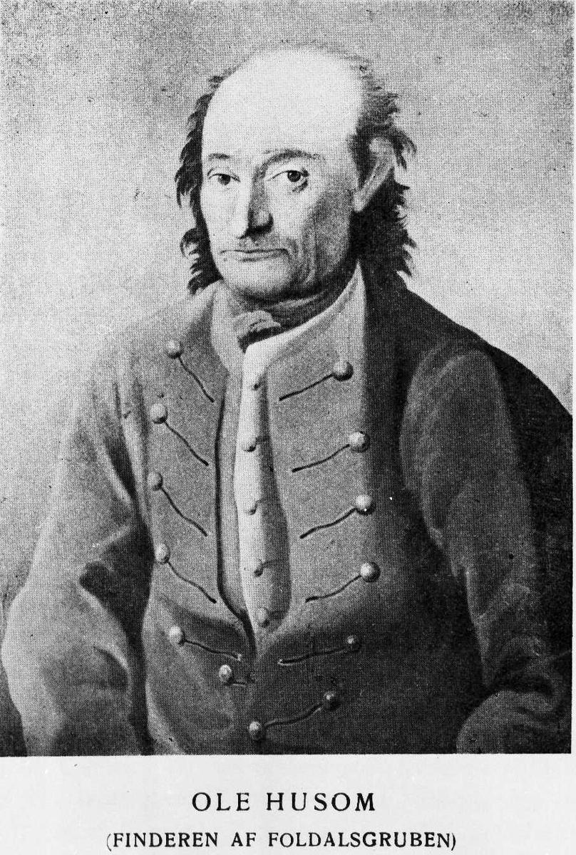 Portrett av Ole Husom (finderen av Foldalsgruben)