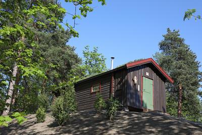DNT-hytta på Norsk Folkemuseum. Foto: Astrid Santa