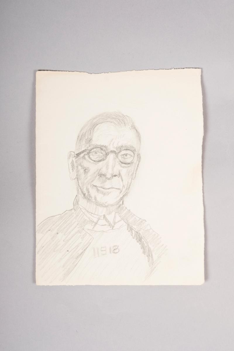 Portrett av fangenr. 11918, Tellef Christian Wagle.