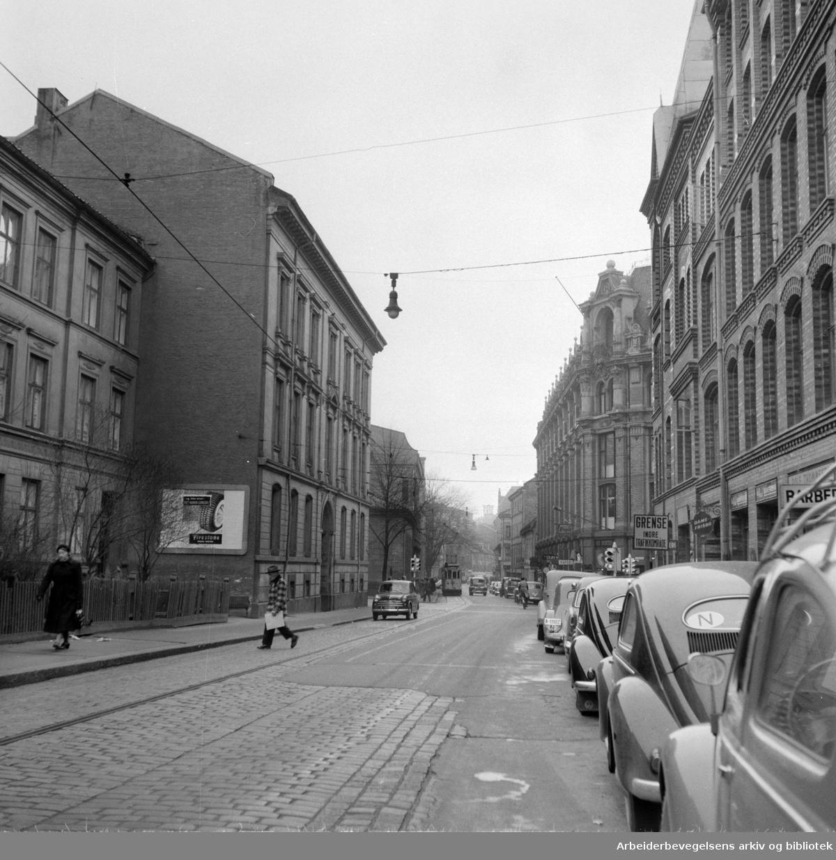Pilestredet. November 1957