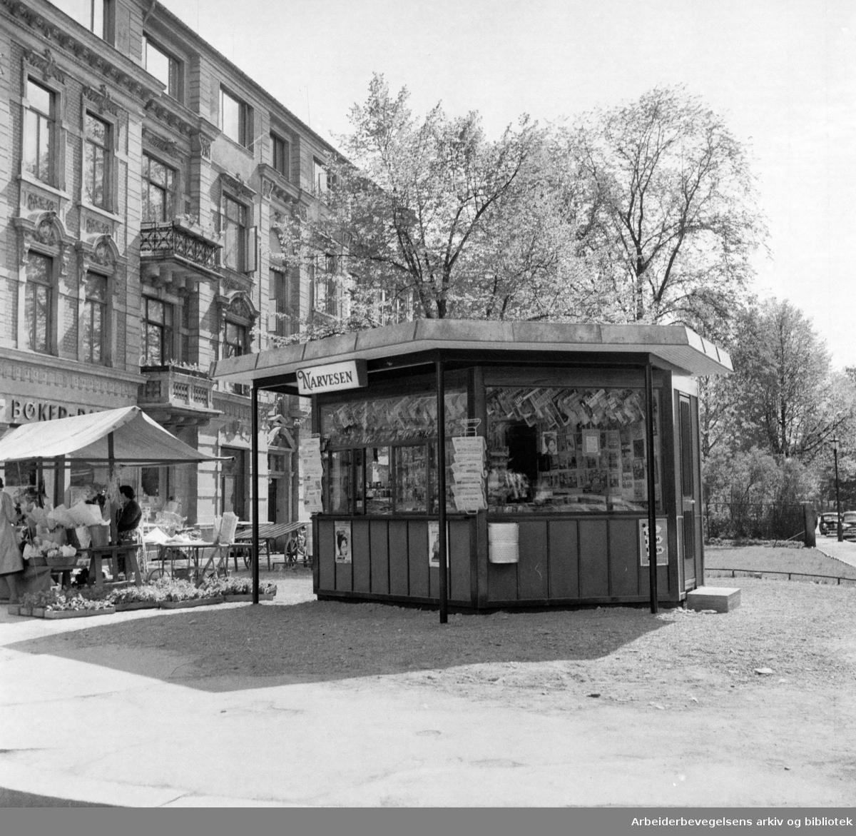 Oscarsgate / Hegdehaugsveien. Juni 1957
