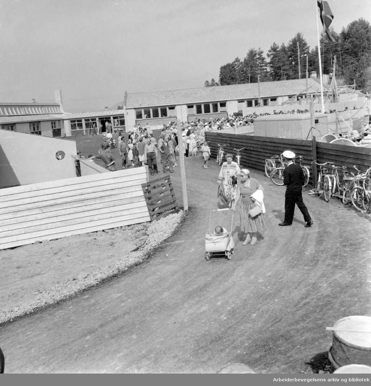 Manglerud skole. August 1957