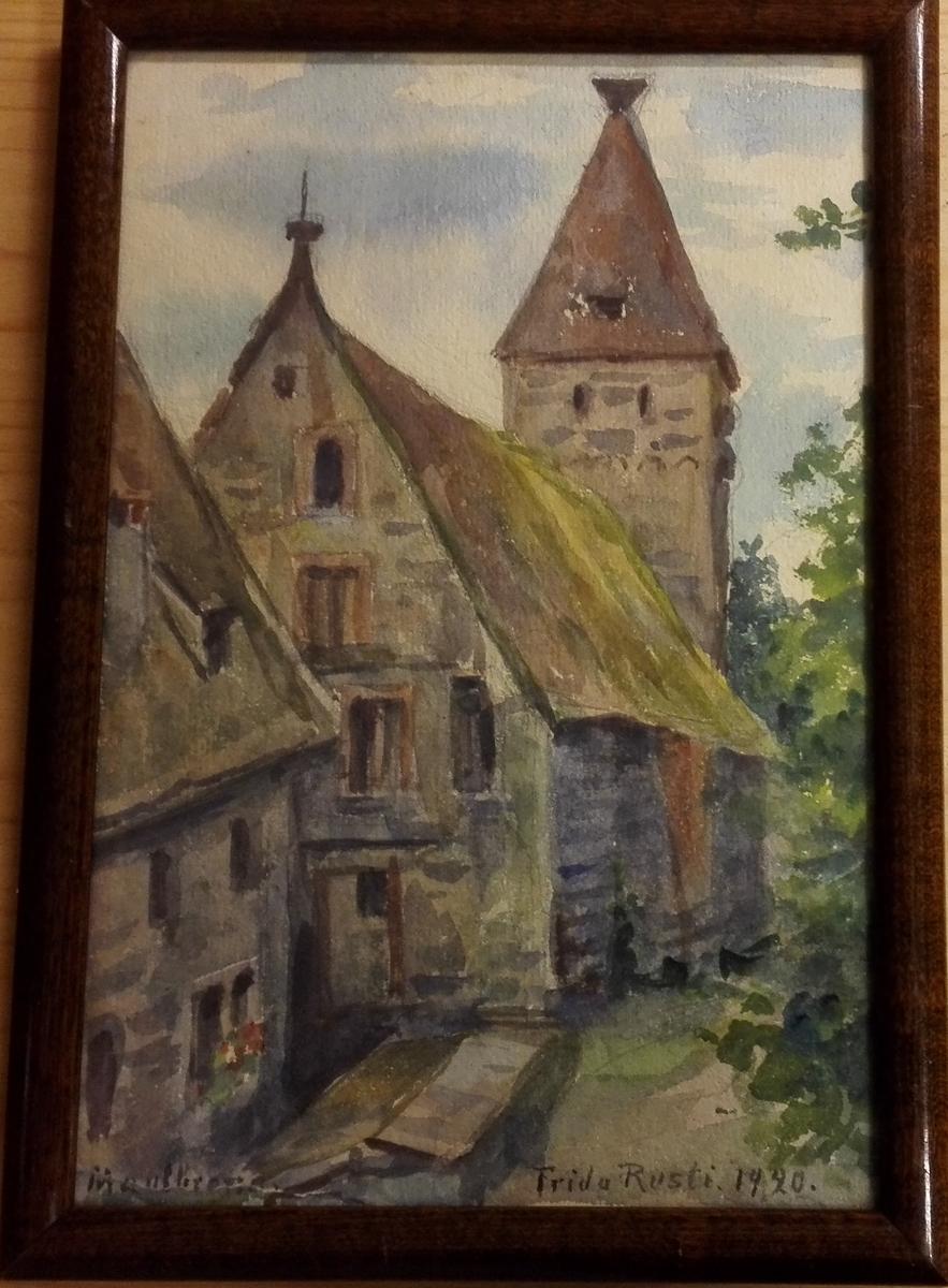 Kyrkjebygning - Maulbronn 1920.
