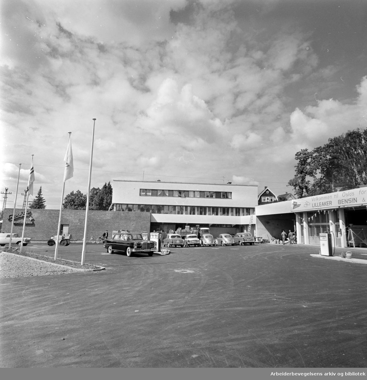 Lilleaker Bensin og Service-stasjon. Juni 1962