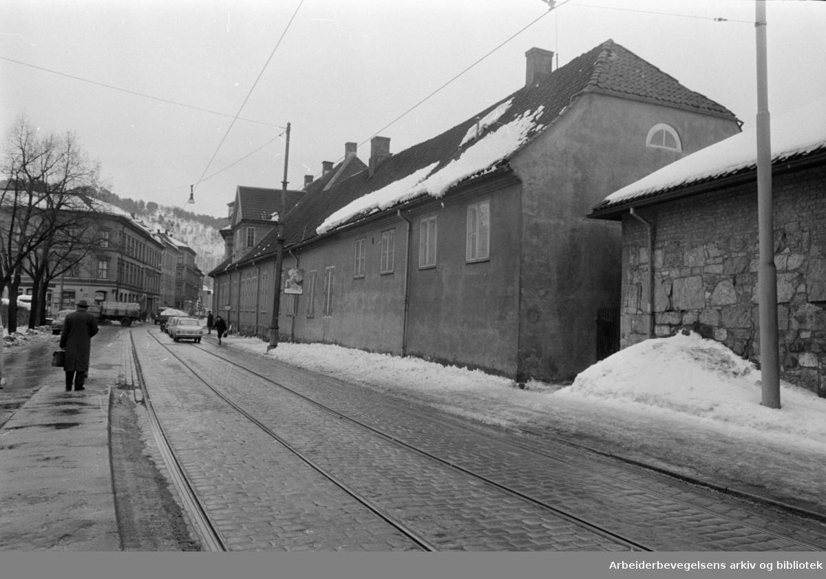 Oslo gate. Ladegården. Mars 1966