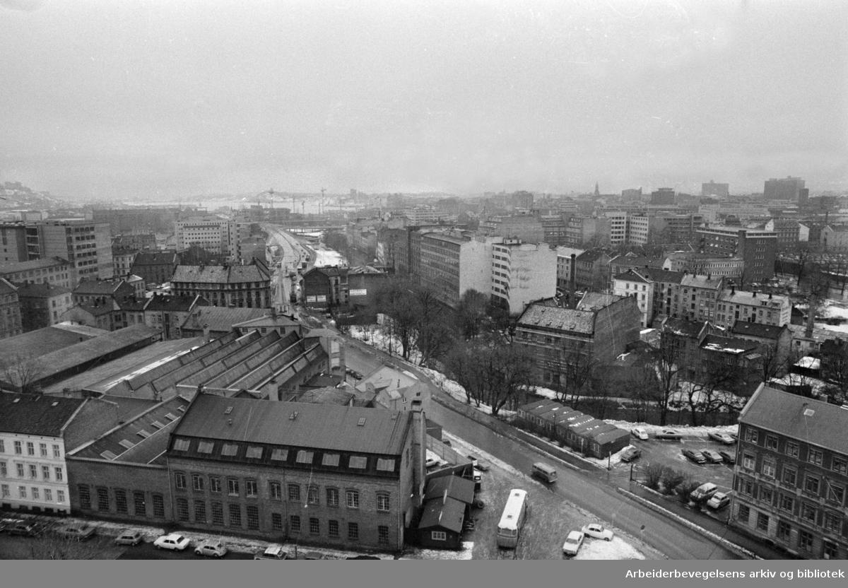 Lakkegata. Januar 1974