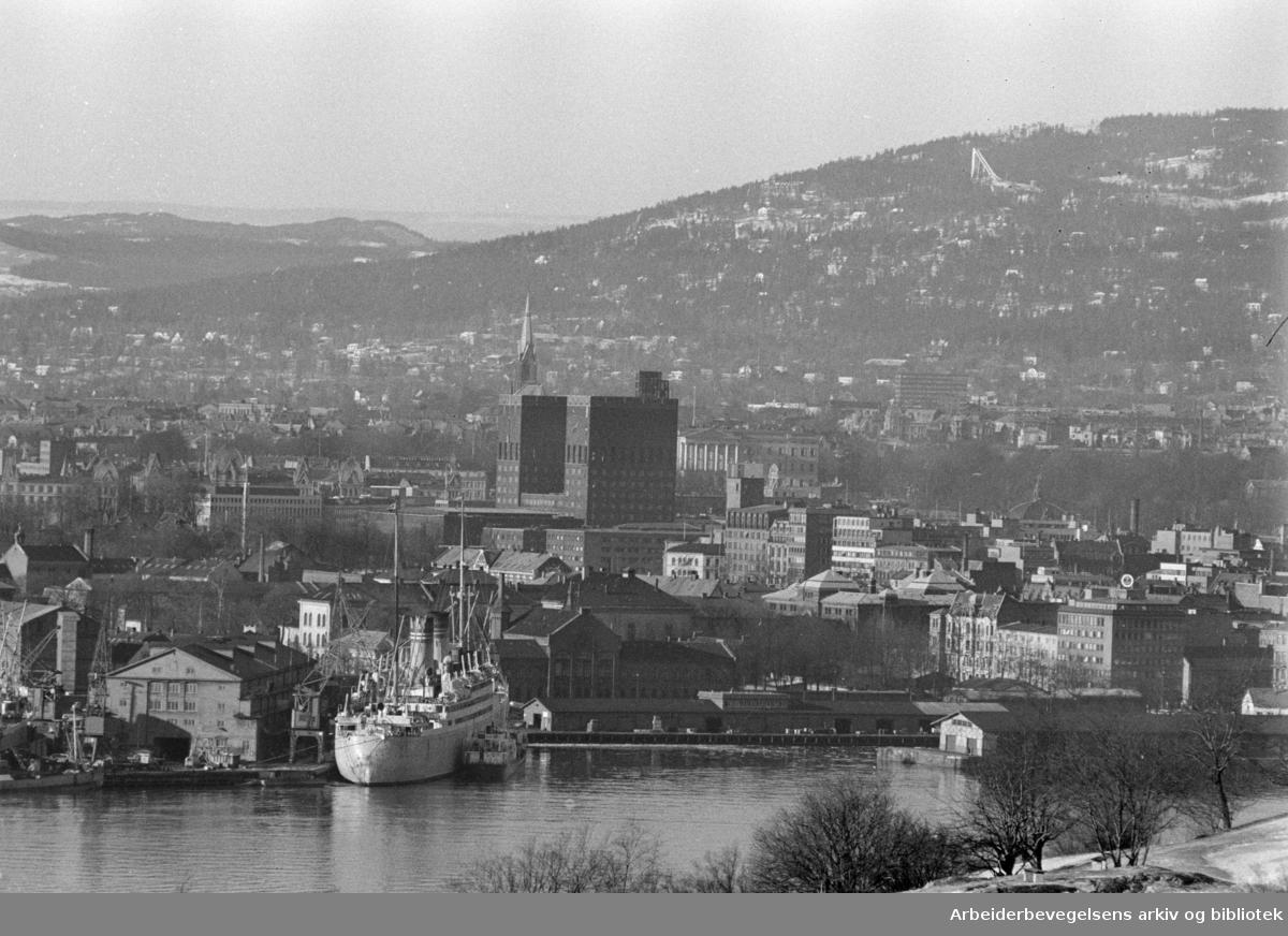 Havneområdet. Februar 1961