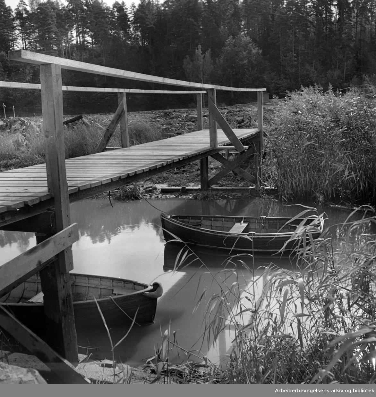 Sjølyst småbåthavn. 1950-åra