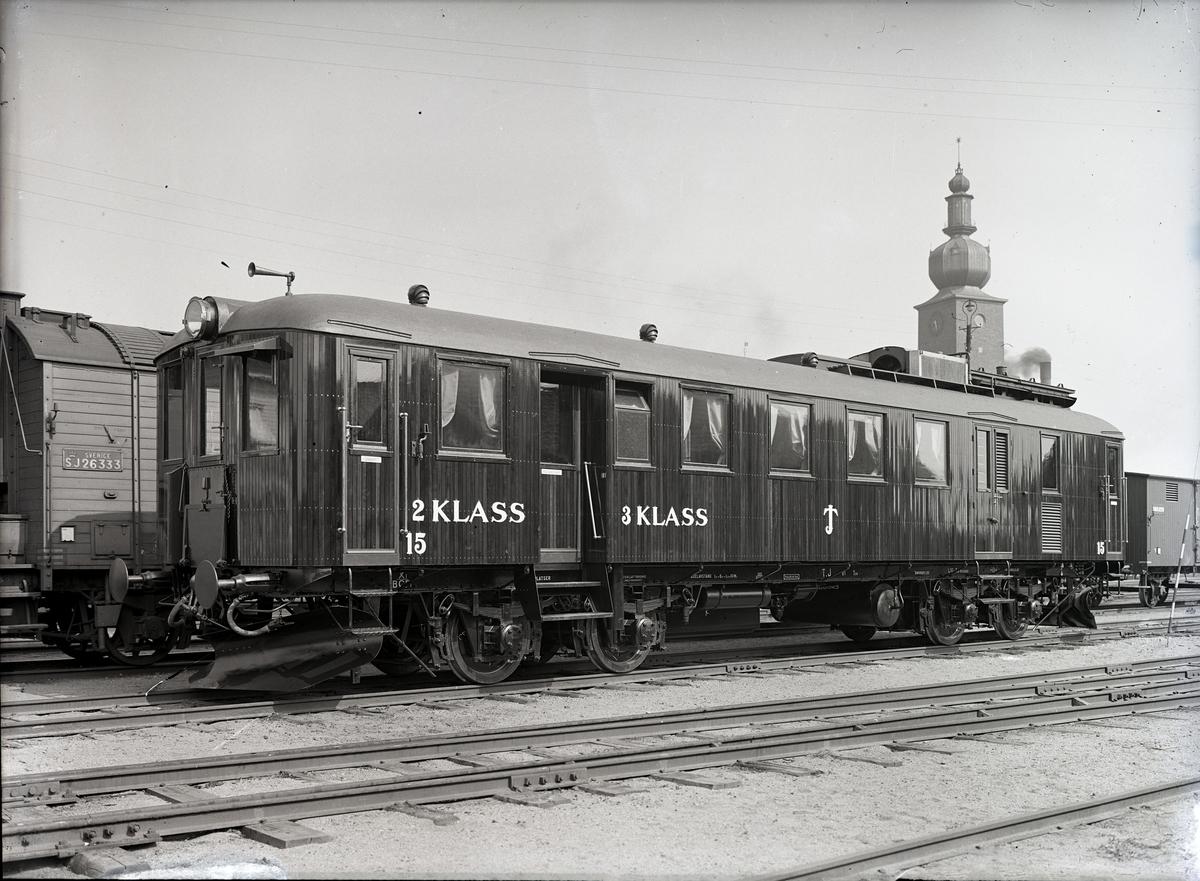 Diesel-elektrisk vagn för TJ. Tillverknings år: 1925.