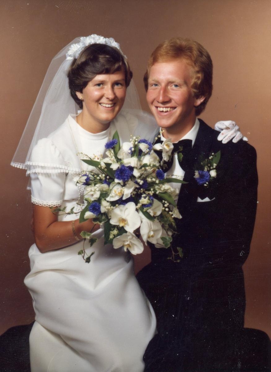 Brudebilde Av Gunn Helene Golberg Halvorsen Og Jan Halvorsen Gol