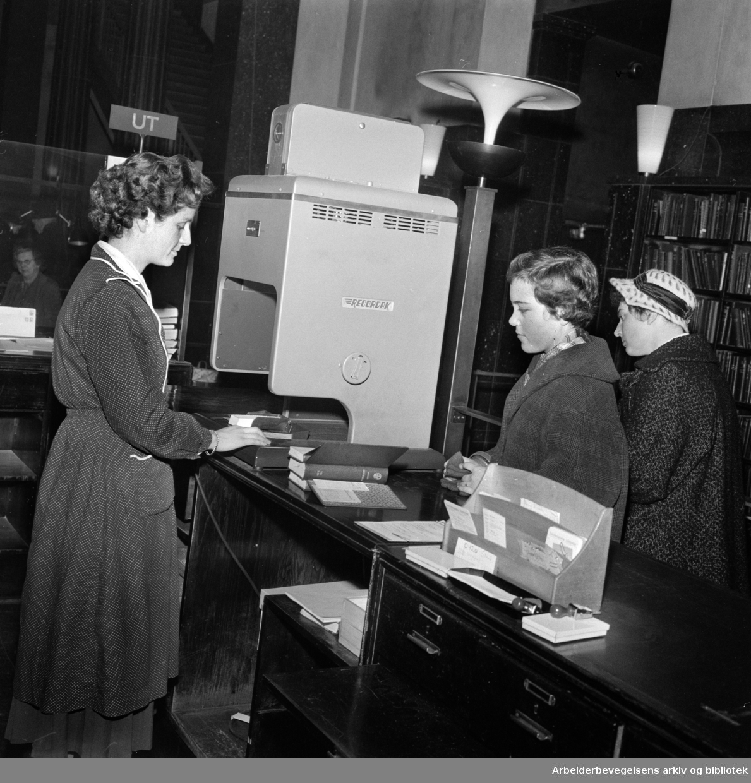 Deichmanske Bibliotek: Rasjonalisert utlån. Desember 1958..