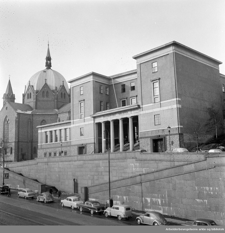 Deichmanske Bibliotek: Eksteriør. 1959 - 1964.