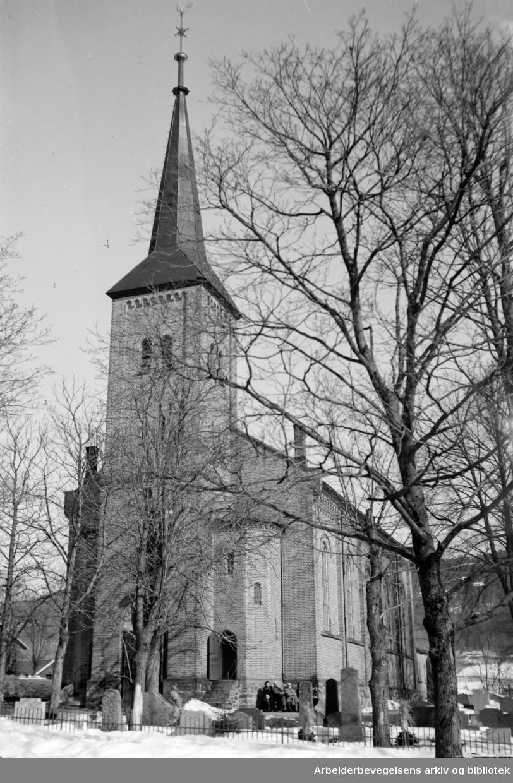 Bryn kirke. April 1948