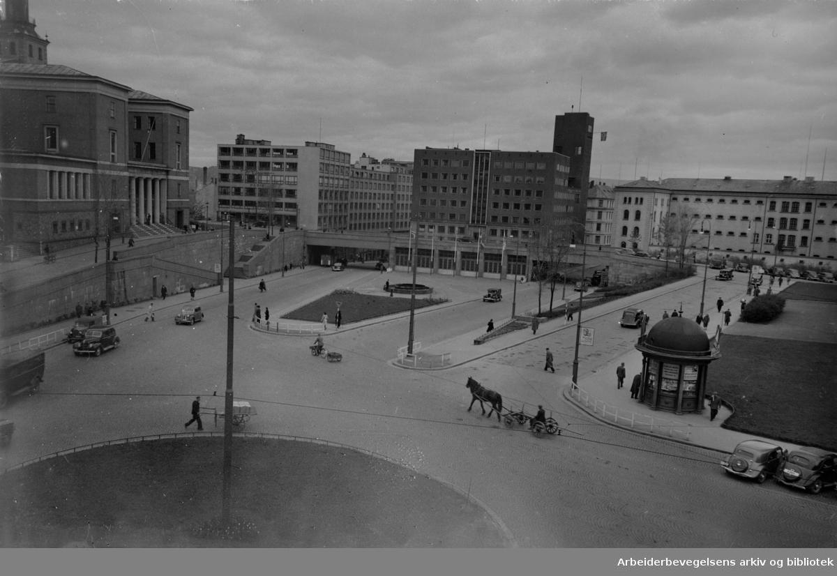 Arne Garborgs Plass. September 1948