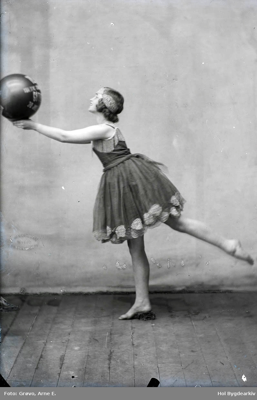 Portrett, kvinne, danserinne, ballerina, dansekjole, ball,