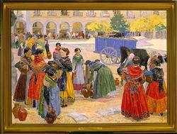 Pigorna i Avila [Målning]